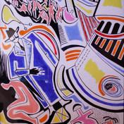 Sin título 1992 Acrílico / cartón 110 cm x 84 cm