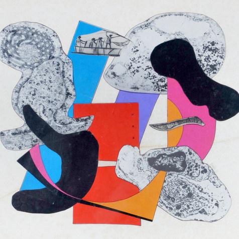 Líneas y organismos 1985 Collage / papel 53 cm x 59.8 cm