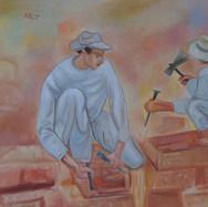 En la obra 2003 Acrílico / tela 69 cm x 99 cm