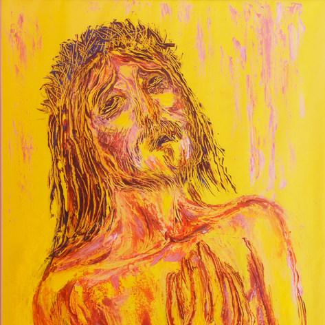 La pasión de Cristo 2002 Óleo / papel 63 cm x 45 cm