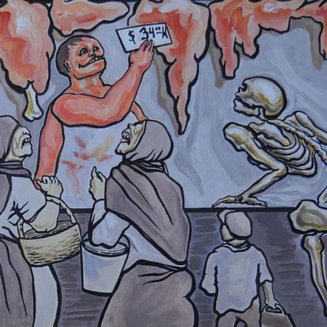 El carnicero 1976 Acrílico / papel 64 cm x 52.2 cm