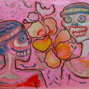 Sin título 1984 Acrílico / papel 50 cm x 65.5 cm
