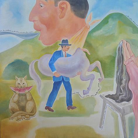 La ropa sucia se lava en casa  1994 Acrílico / tela 93 cm x 125 cm