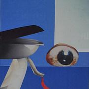 Tragedia griega 1984 Collage / cartón 46.4 cm x 36.4 cm