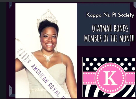 Kappa Nu Pi Member Of The Month