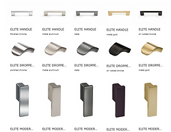 Pulls for drawers and doors  finishes