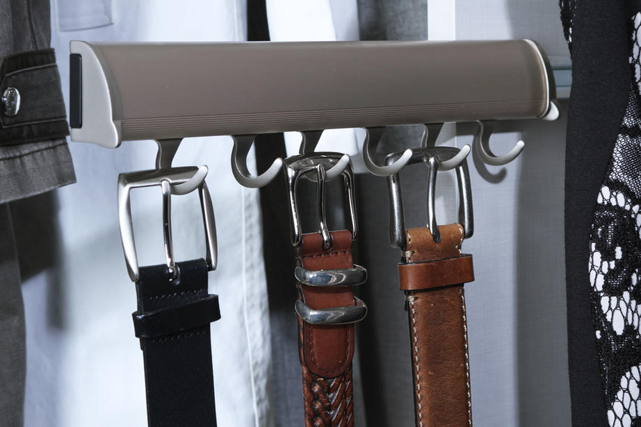 pull out tie and belt rack