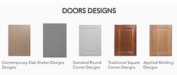Doors and Drawers fronts styles for custom closets