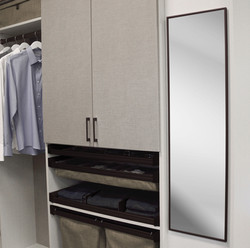 Full Rotation Mirror for a closets