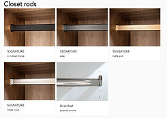 rods-hangers for a closets