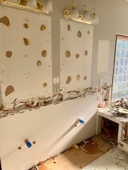 Master cabinets gone!