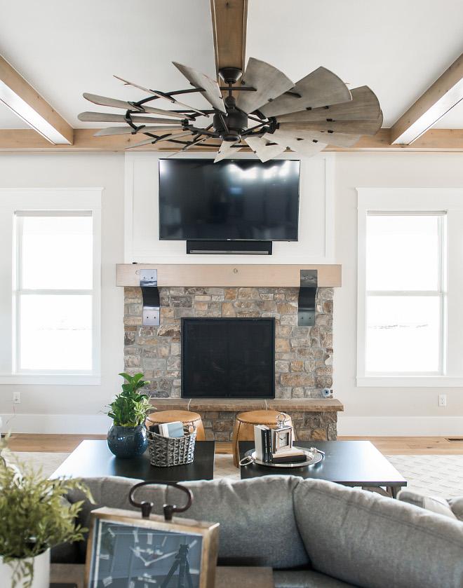 Stone-Fireplace-Rustic-Mantel