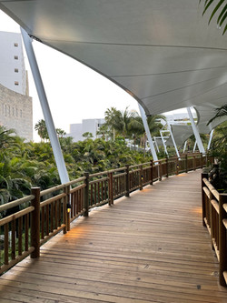 Pathway to lobby