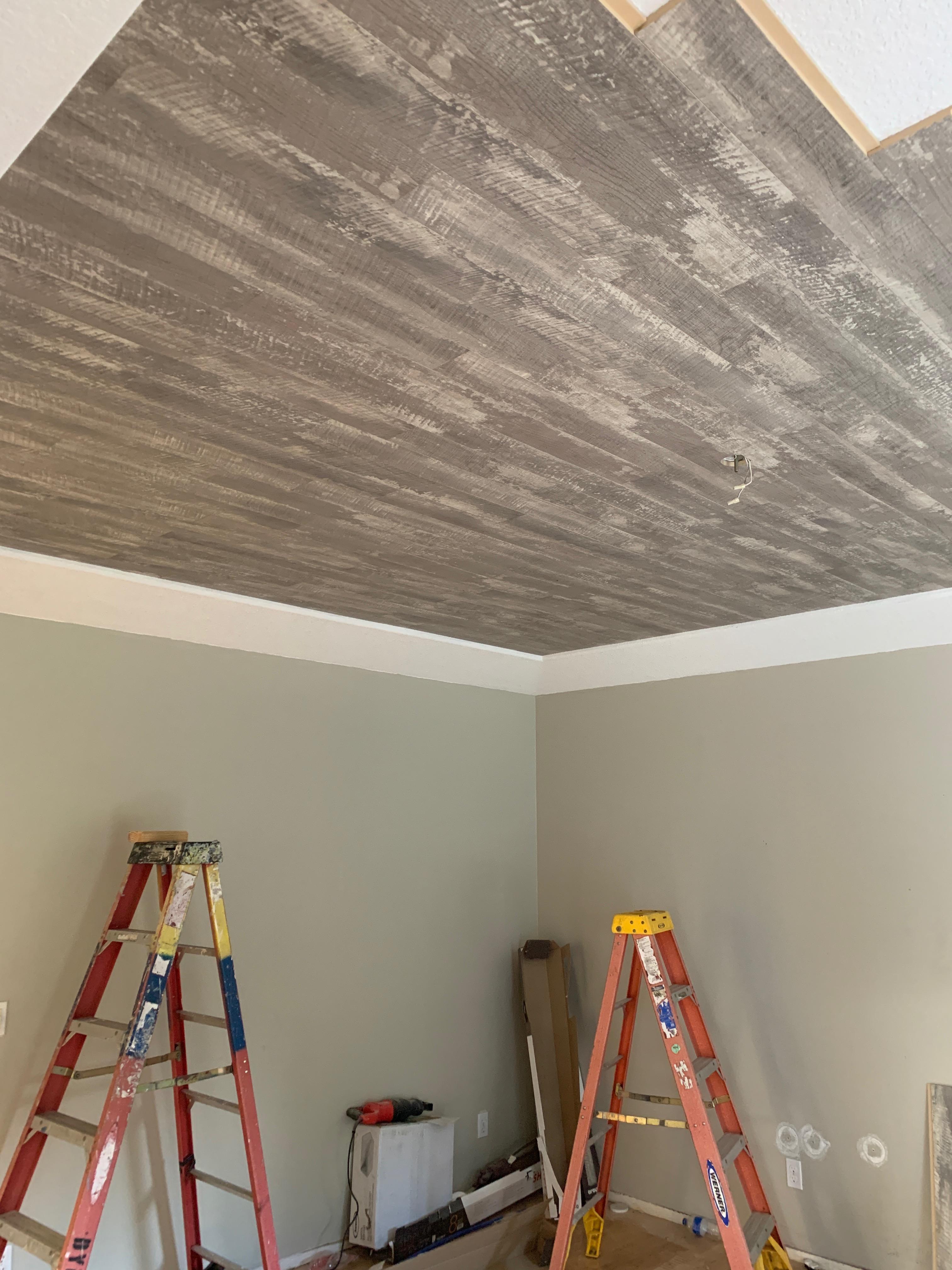 Master ceiling shiplap