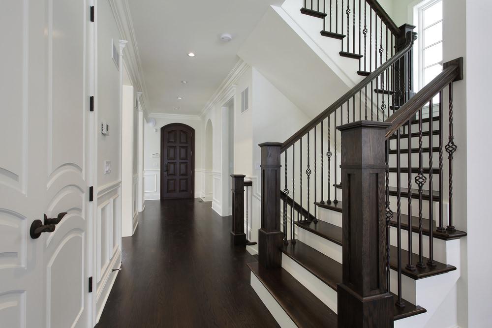 Beautiful-dark-wood-and-white-180-turn-s