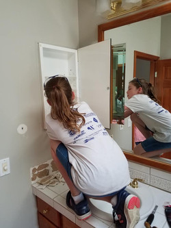 Tearing out med cabinets