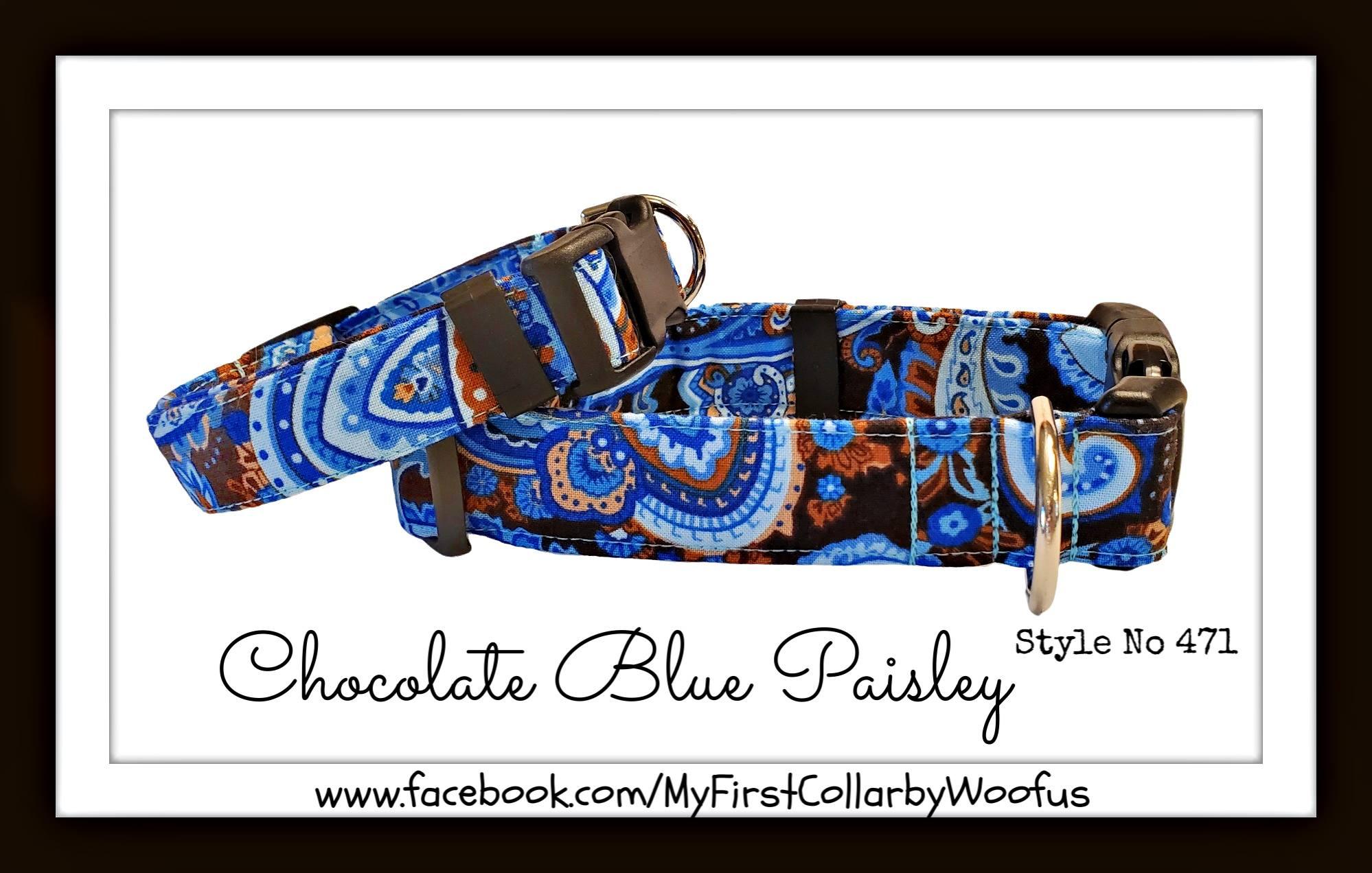 Chocolate Blue Paisley 471