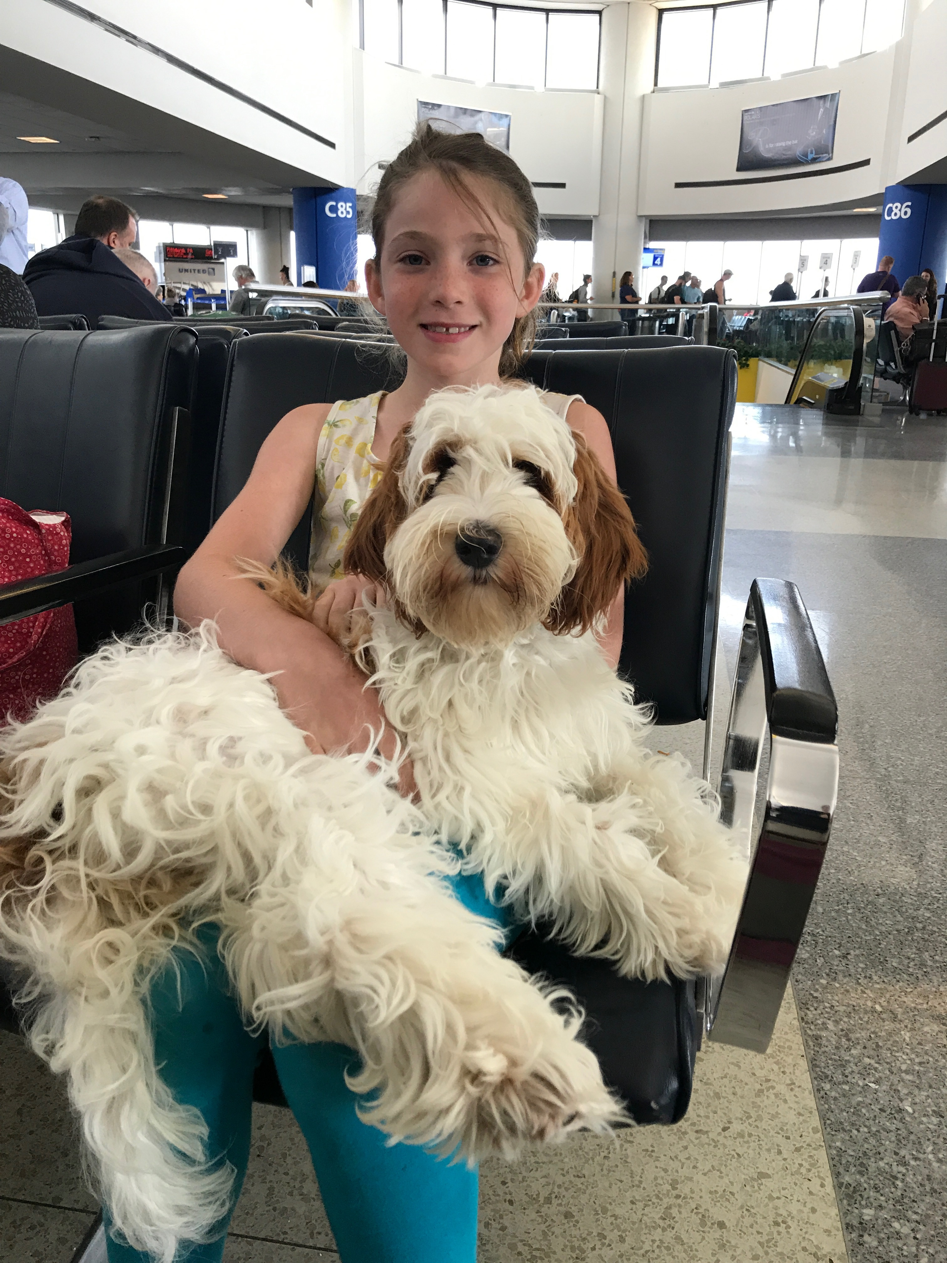 Ruby & Emma @ The Newark Airport