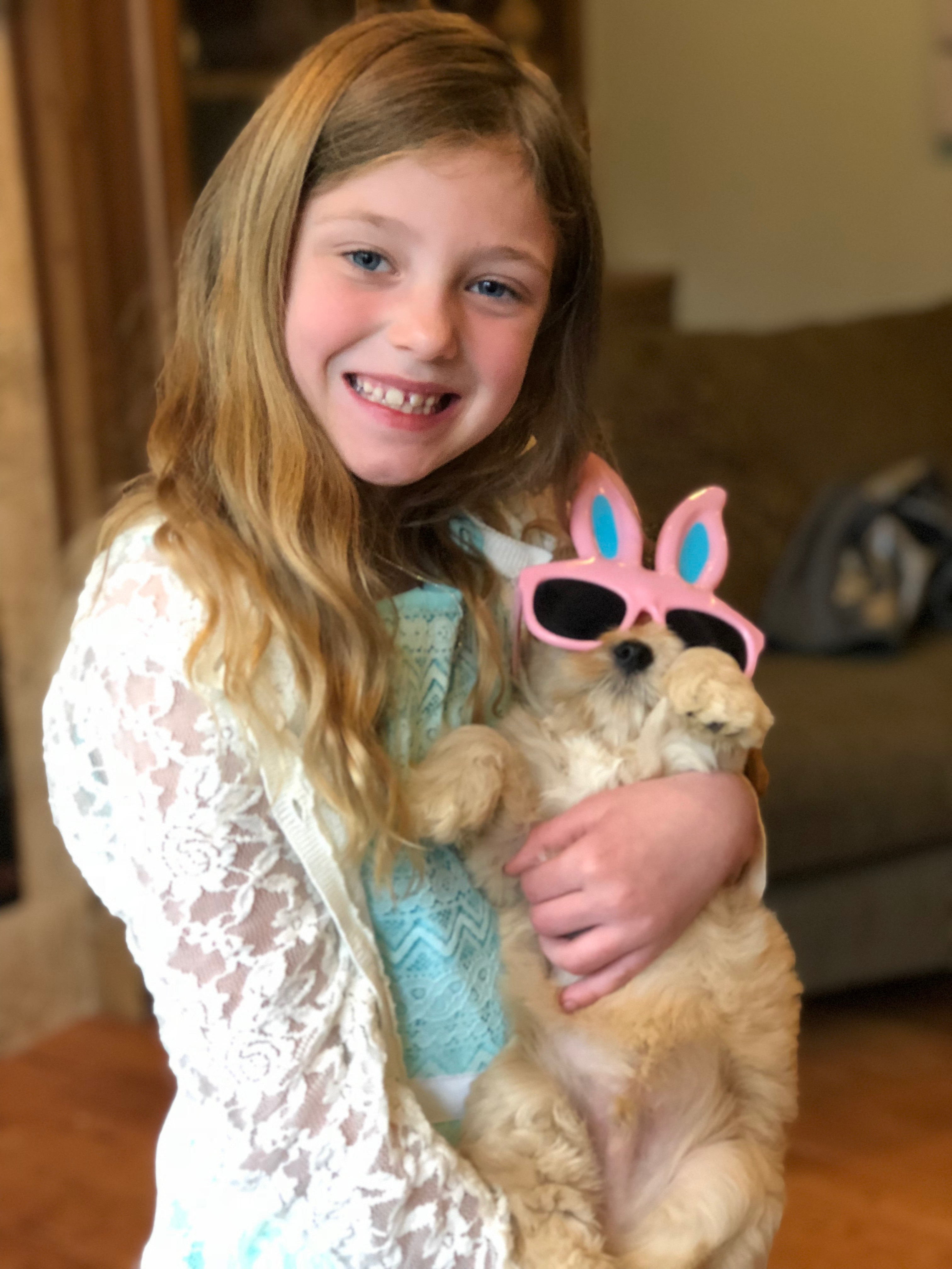 Becca & the Easter Puppy
