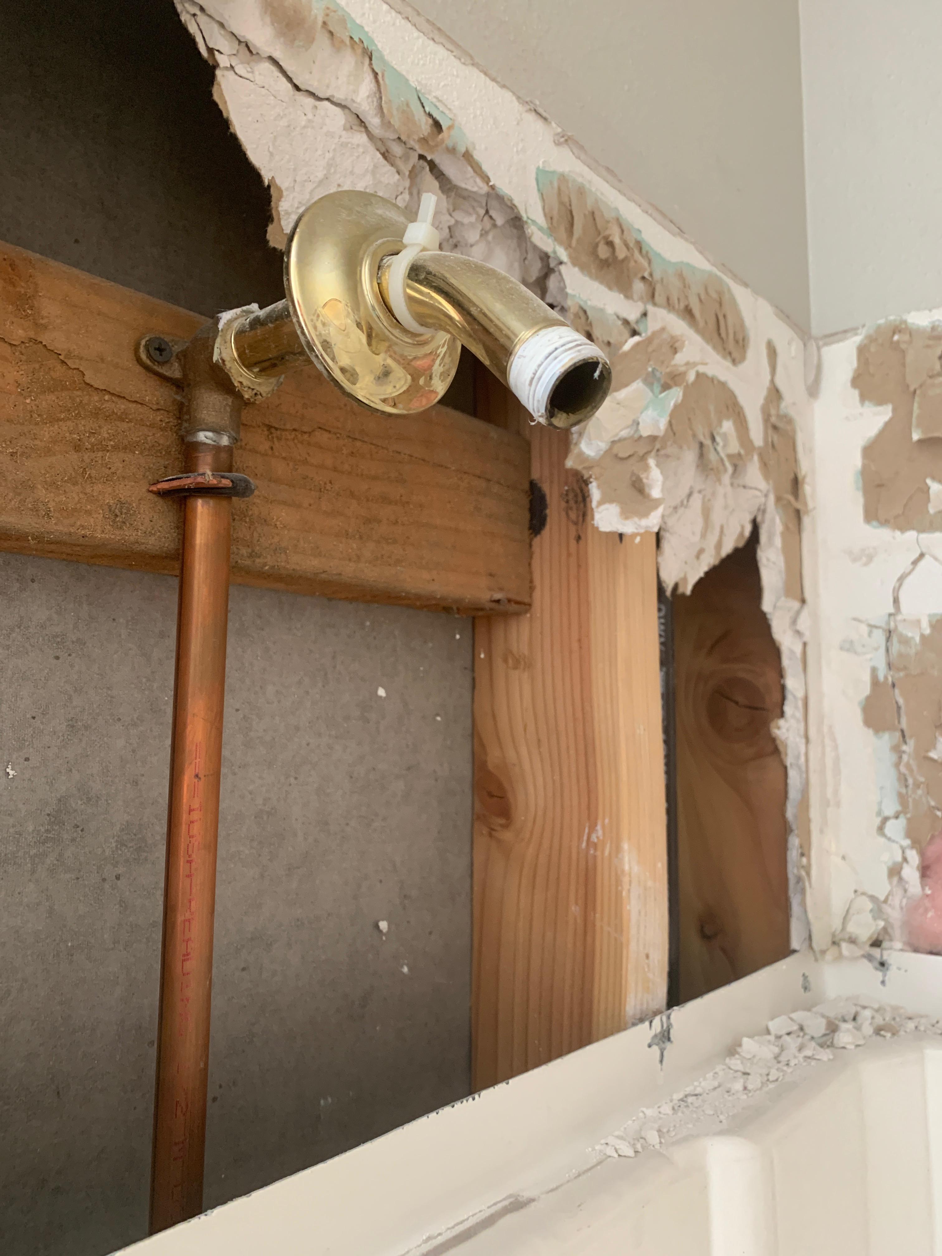 Found a shower pipe!