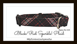 Black:Red Sparkle Plaid 506