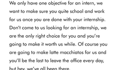 Could this be the worst internship advert in the world?