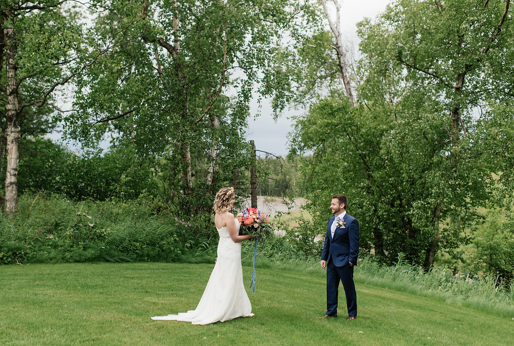 First look Helicopter ceremony, Elope to Alaska with guests, private and remote location