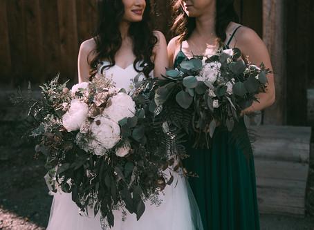 Greenery and Gold Alaskan Wedding