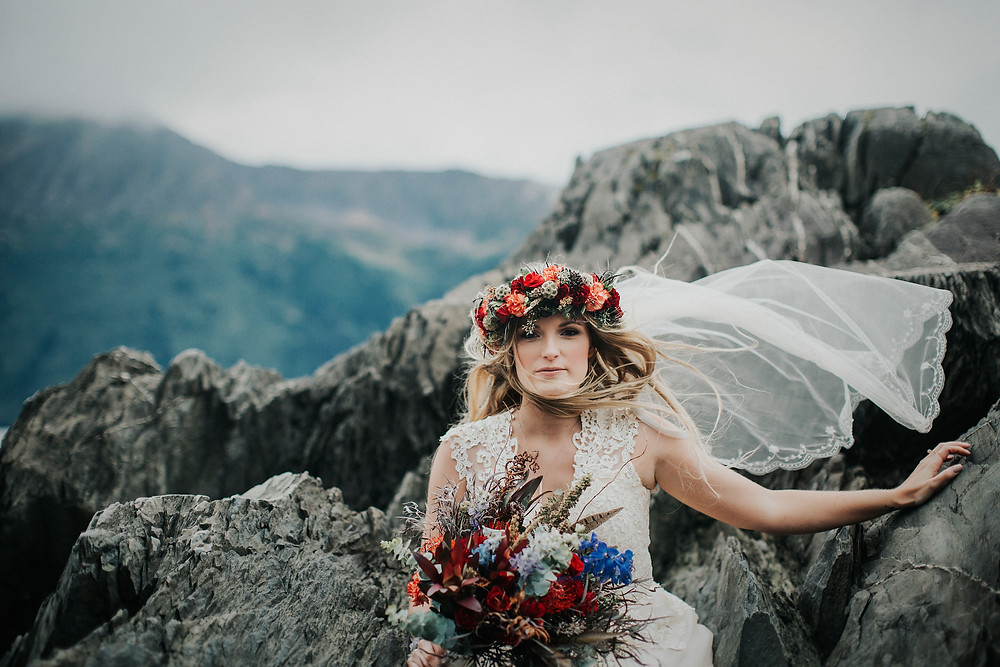 Alaska adventure elopement, birdcreek, chugach state park, turnagain arm