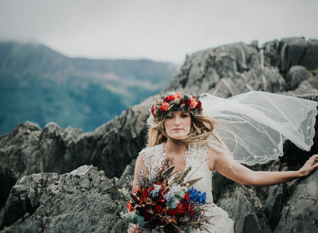 Misty Alaskan Elopement with Styled Mini Reception