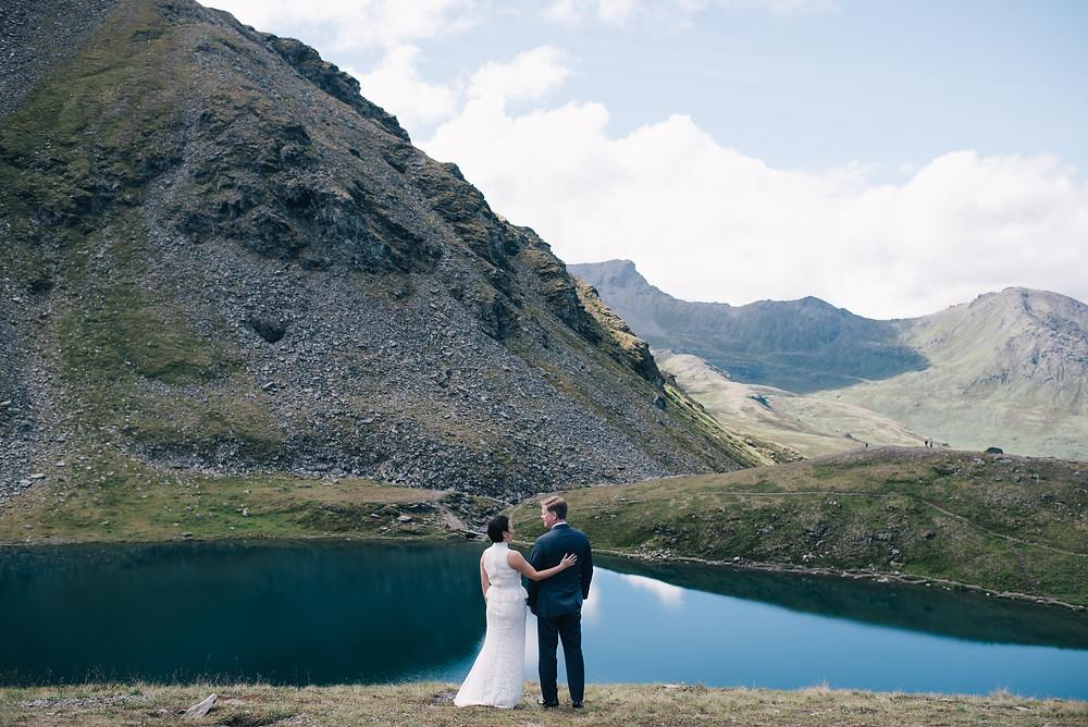 Alaska adventure elopement at Summit Lake above Hatcher Pass