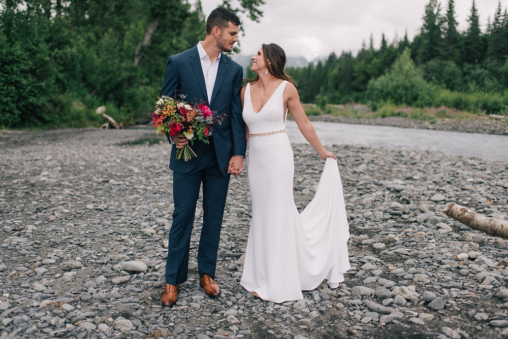 Jewel toned wedding in Girdwood, AK by La Boum Events
