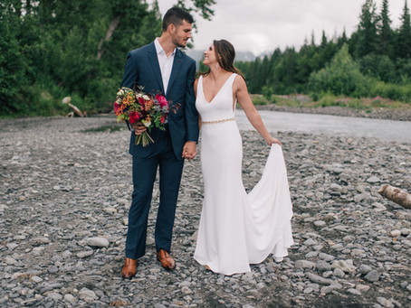 A Rustic Girdwood Wedding | In Jewel Tones and Gold