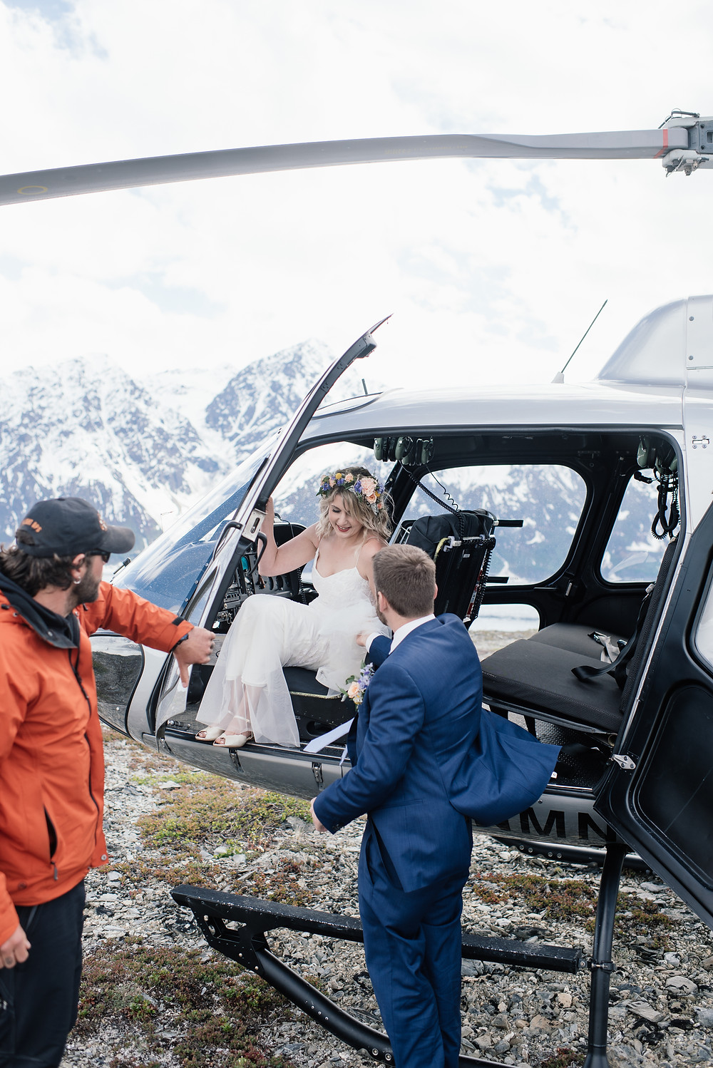 Remote Alaska ceremony location Helicopter ceremony, Elope to Alaska with guests, private and remote location