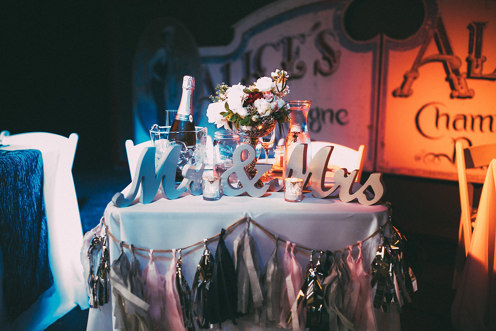 Alice's Champagne Palace wedding reception | photo by Joshua Veldstra