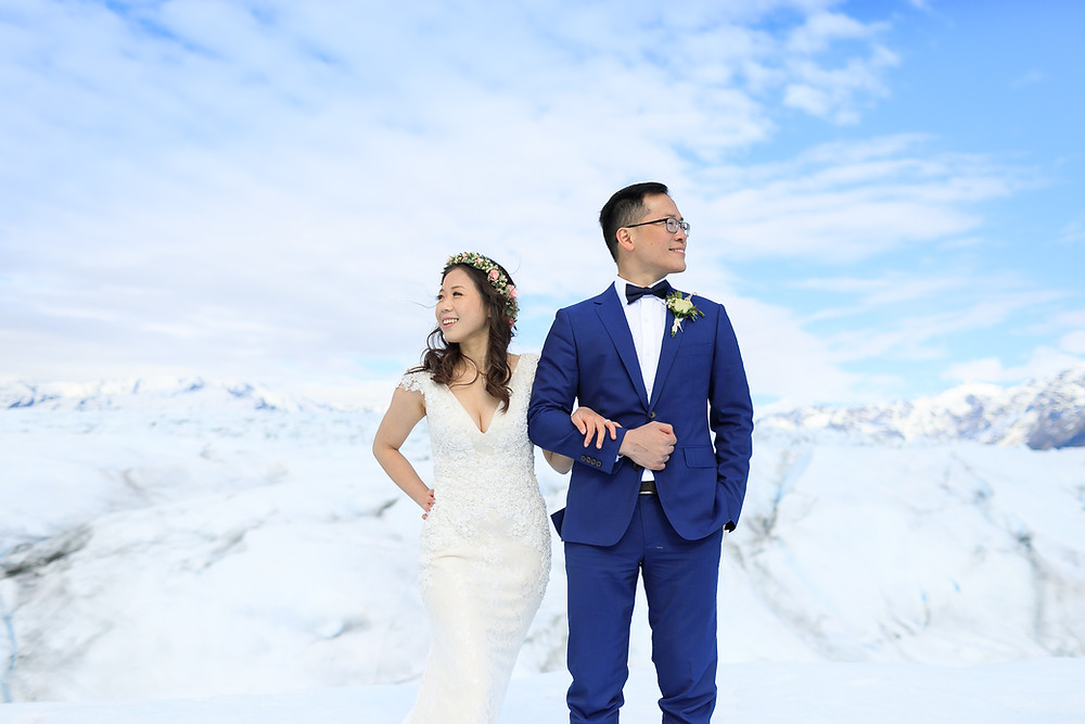 Plan your Alaska destination wedding with La Boum Events! Elope to Alaska with guests