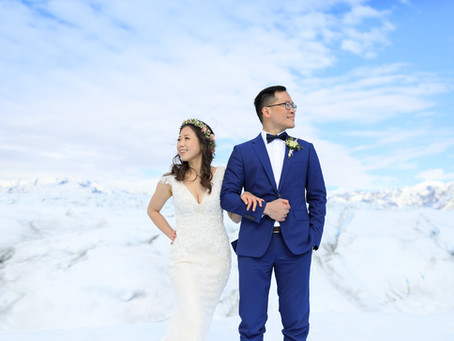 Alaska Glacier Elopement with Guests | from Taiwan and Singapore