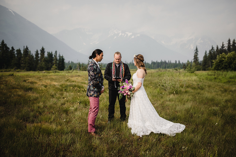 Alaska marriage commissioner, officiant, celebrant for marriage ceremony in Girdwood, AK