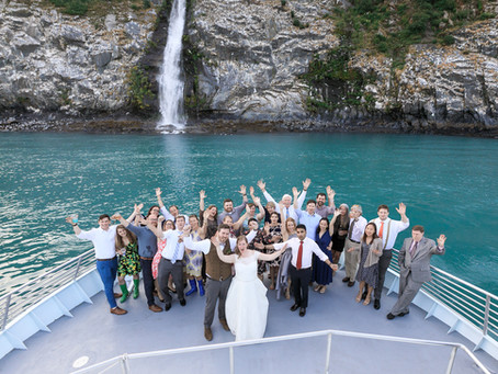 Alaska Micro Wedding with Glacier Views by Boat