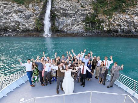 Alaska Micro Wedding with Glacier Views by Boat