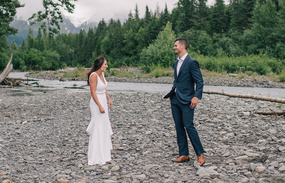 Erica Rose Photography - first look in Girdwood