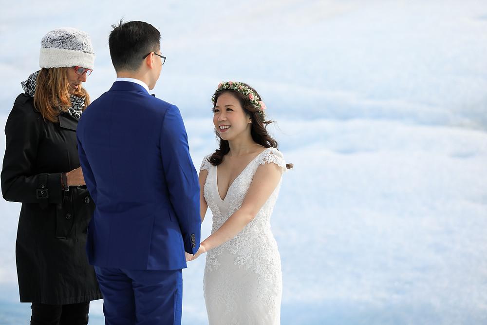 Alaska marriage commissioner for Alaska glacier elopements