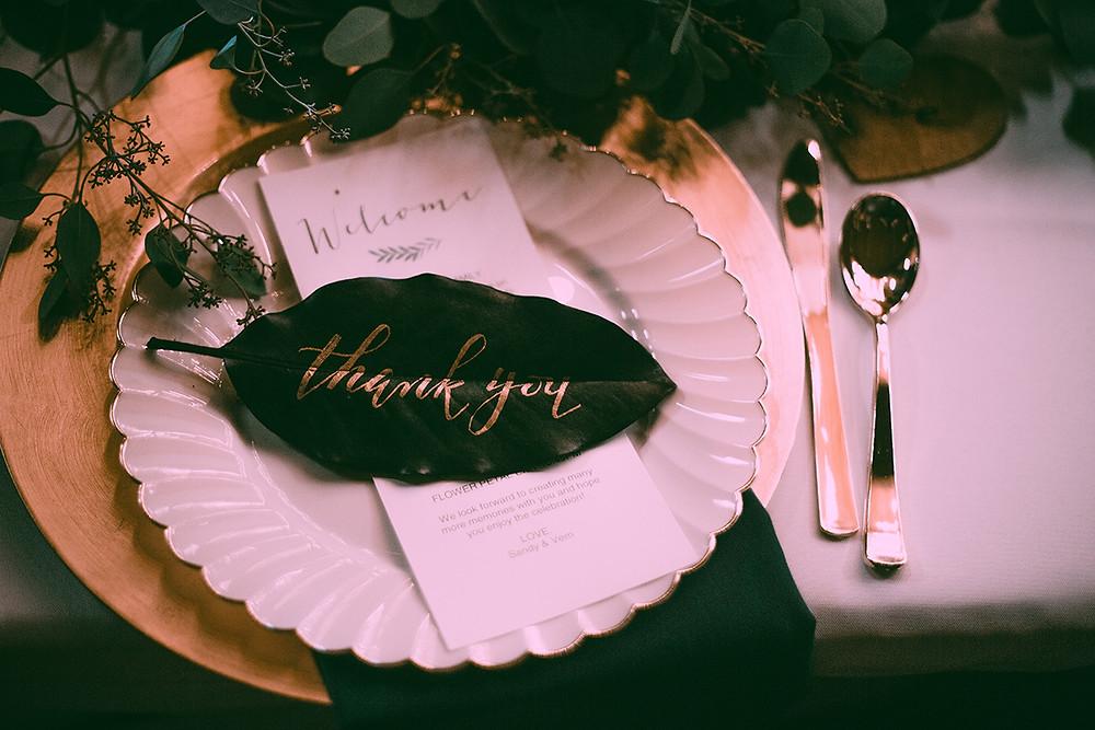 Magnolia Leaf thank you note