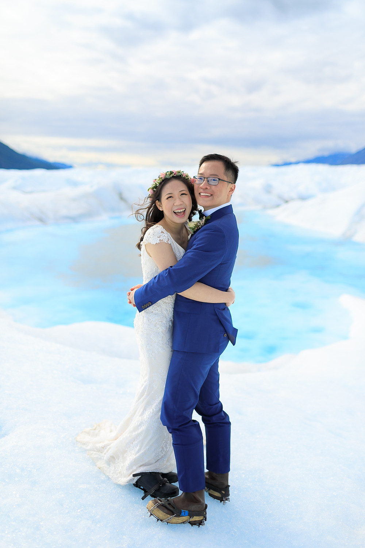 Elope to a glacier in Alaska with La Boum Events