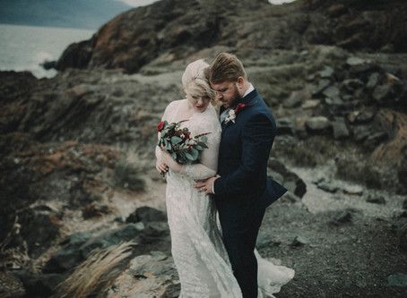 A Dark and Romantic Alaska Elopement
