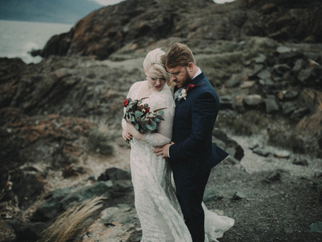 A Dark and Romantic Alaska Elopement