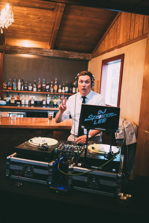DJ Spencer Lee at Alice's Champagne Palace | photo Joshua Veldstra