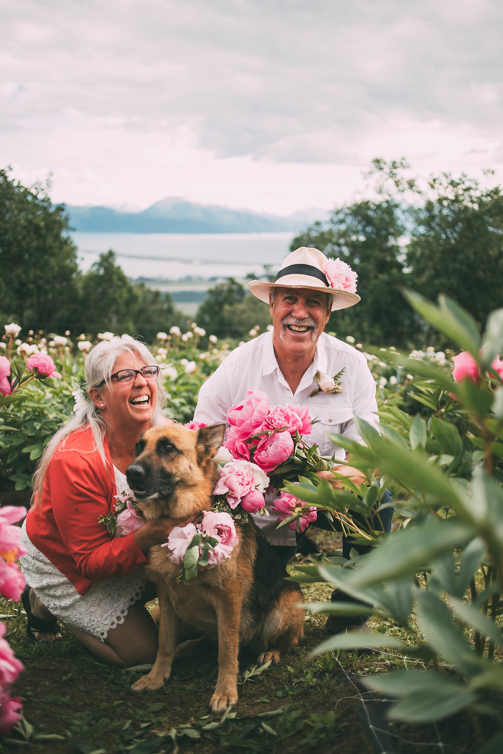 beth vandsant of scenic place peonies in homer ak scenic place peony farm, field to vase dinner, wedding and event venue, homer, alaska, AK