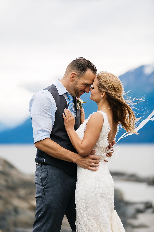Alaska elopement in Girdwood coordinated by La Boum Events