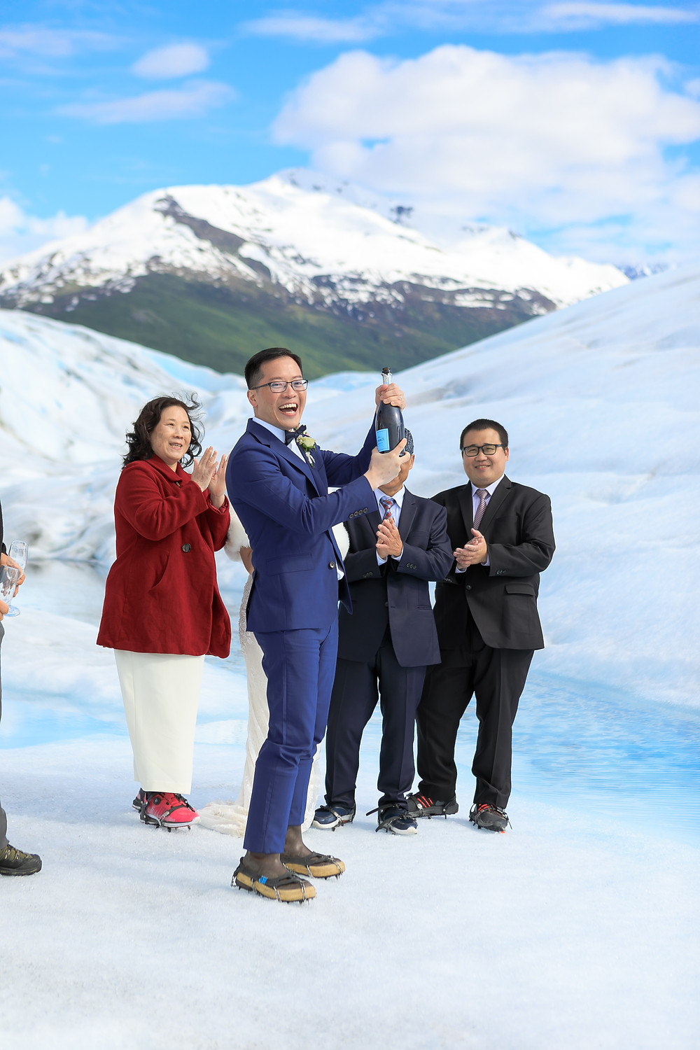 Toast to love and elope on an Alaska glacier with La Boum Events